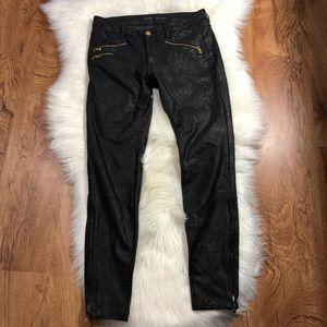 Zara snakeskin black jeans
